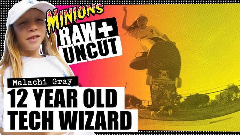 12 Year Old Tech Wizard Malachi Gray SC Minions RAW UNCUT Santa Cruz Skateboards