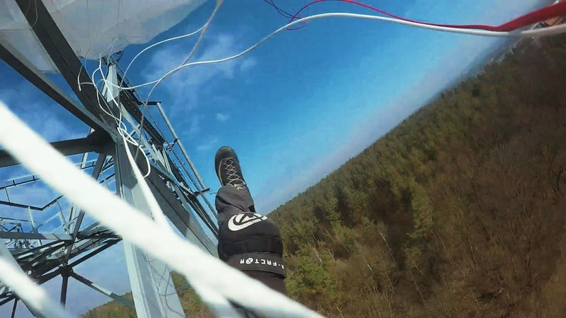 Friday Freakout: Object Strike BASE Jumper Gets Stuck Hanging From Antenna