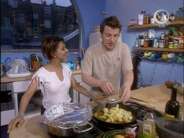 Болливуд Жить вкусно с Джейми Оливером Карри домашний индийский сыр панир картошка по бомбейски
