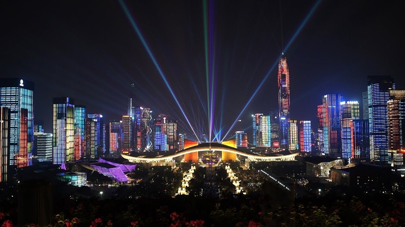 2019深圳灯光秀70周年国庆完整版Lights Show In Shenzhen PRC's 70th Anniversary 4K 可可KekeTV