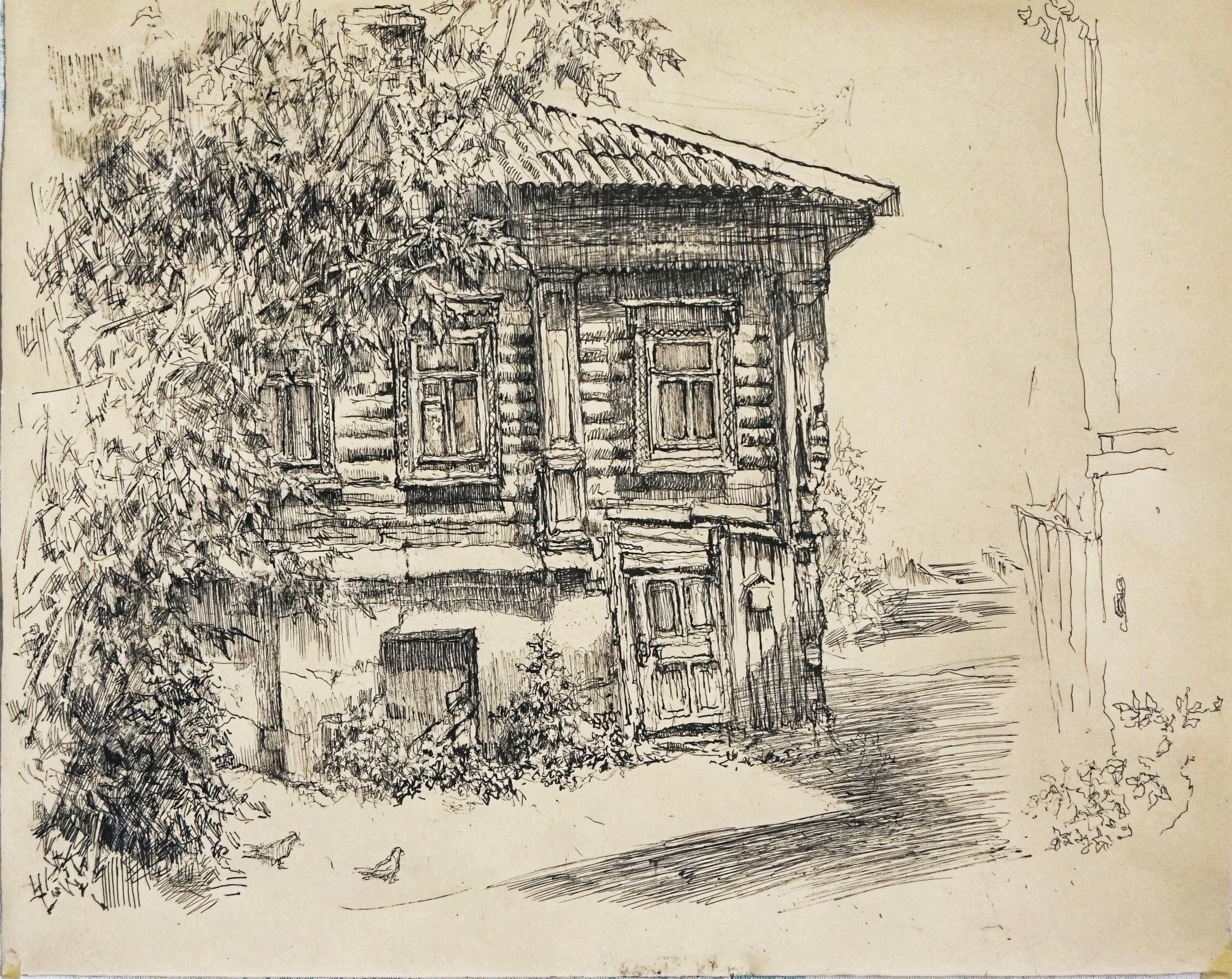 Исчезающие деревянные домика города Тулы  #yebenyapainting - Фото