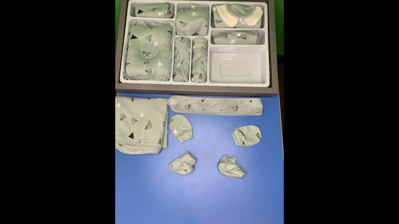 Подарочный набор для новорождённых мальчиков Самолётик