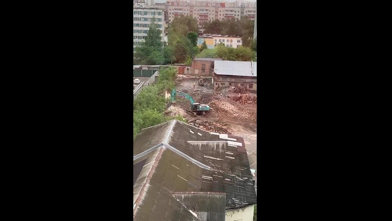 ЖК Летний сад детсад школа июнь продолжают снос объектов на будущей площадке строительства
