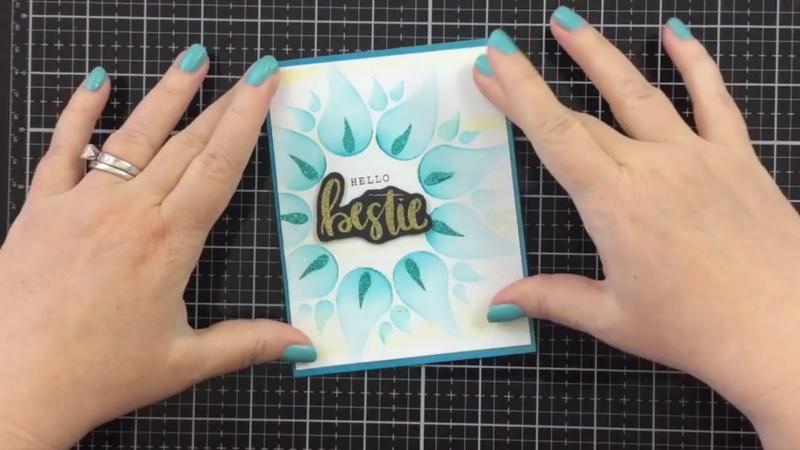 Using a Multi step stencil with Glitz Glitter Gel