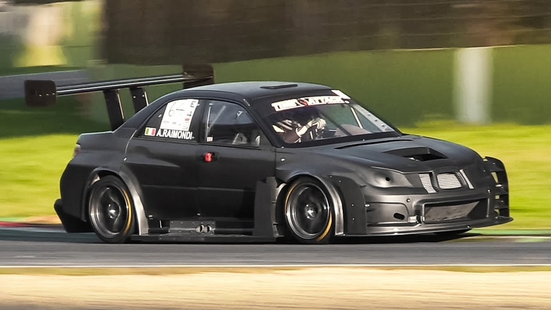 Full Carbon Subaru Impreza STi Hawkeye Time Attack Car in action on various Italian tracks!