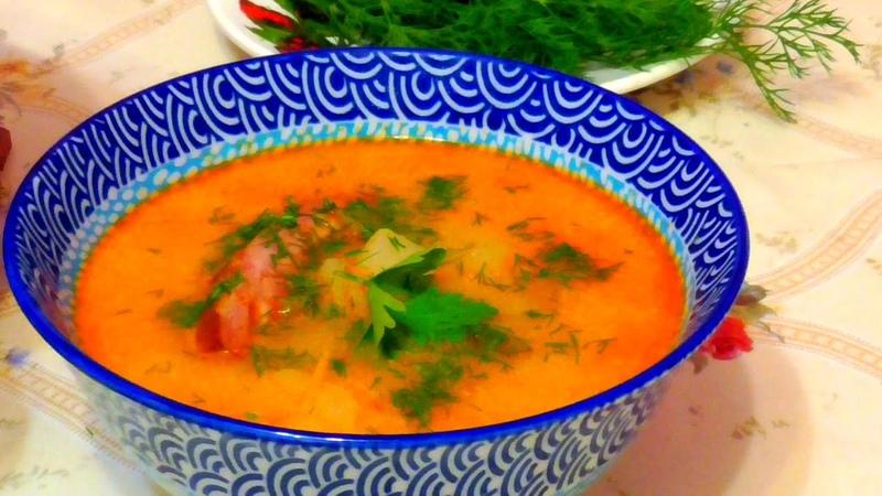 Готовим суп из свиных рёбрышек. Вкусный суп, вкусная еда!