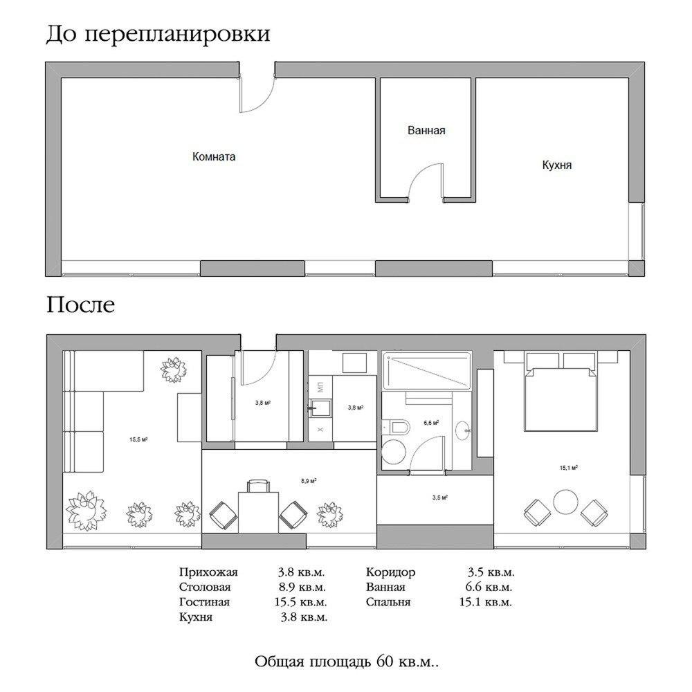 Проект квартиры для молодой женщины