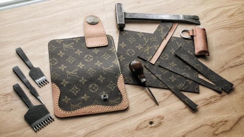 Making a D I Y Louis Vuitton Cowboy Wallet Part 1