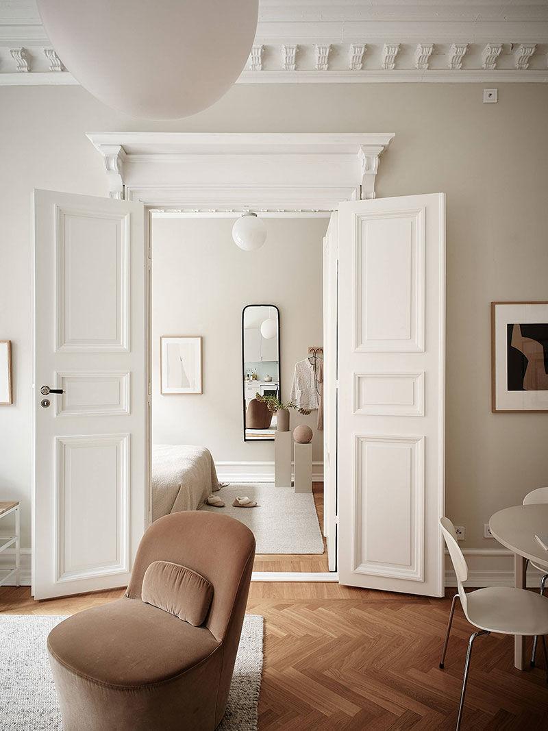 Бежевая нежность: небольшая квартира с теплым интерьером в Гётеборге (49 кв.