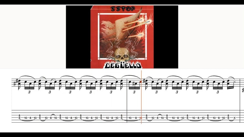 ZZ Top I'm Bad I'm Nationwide Final SOLO TAB Video