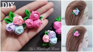 DIY grosgrain ribbon flower 5/手作/MK/Flor de fita/корсажная лента