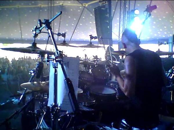 NORTHER Break Myself Away Frozen Angel Live @ Sonisphere 2011 drumcam