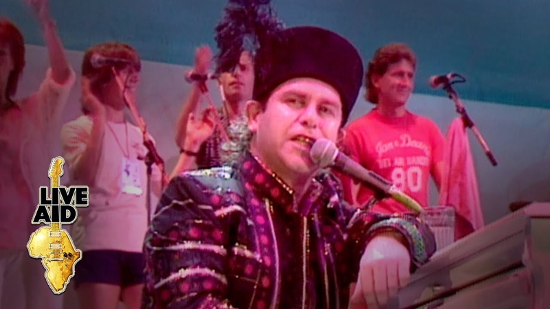 Elton John Bennie And The Jets Live Aid 1985
