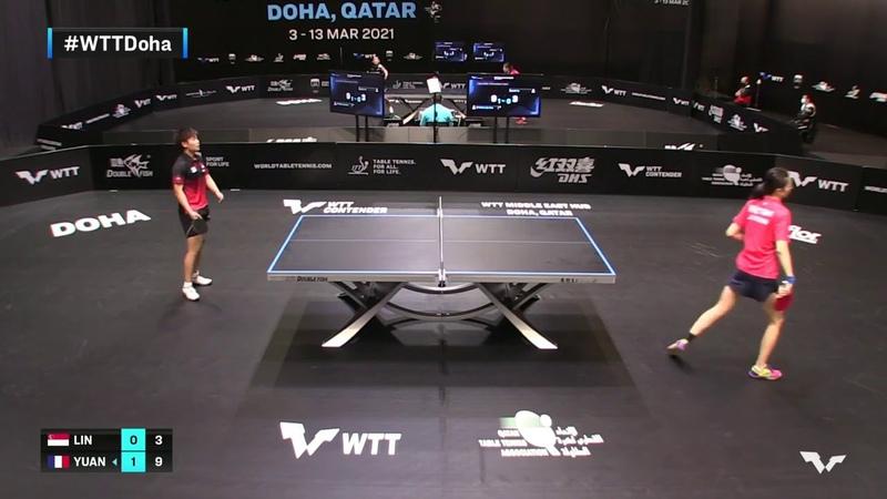Lin Ye vs Yuan Jia Nan   WTT Contender Doha 2021   Womens Singles   QUAL Highlights