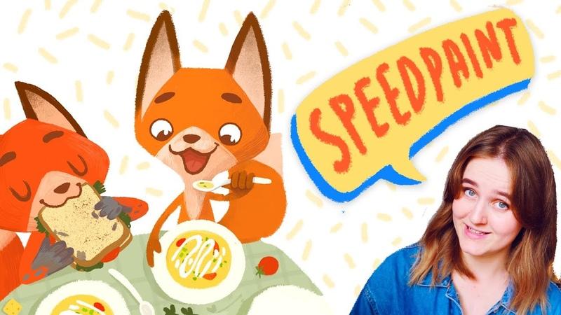 Иллюстрация для детской книги | процесс рисования SPEEDPAINT