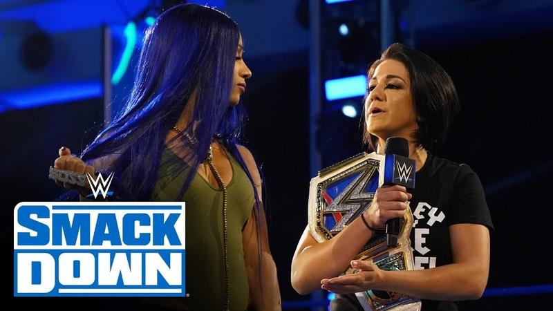 SBMKV Video Bayley offers up Sasha Banks for clash with Tamina SmackDown April 10 2020