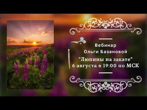 Вебинар по живописи от Ольги Базановой Люпины на закате