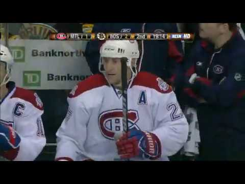 Alex Kovalev beats Tim Thomas with a nice wrist shot in game 2 2009