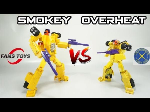 Fans Toys Smokey VS X Transbots Overheat AKA Dragstrip