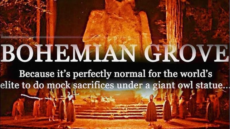 Bohemian Groove Satanic ritual mockery